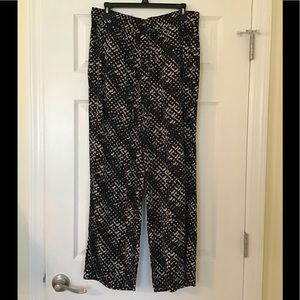 A.N.A. Black Multicolor Cropped Flare  Pants